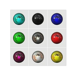 9 Power Buttons Small Satin Scarf (square)