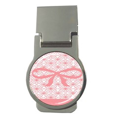 Pink Plaid Circle Money Clips (Round)