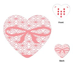 Pink Plaid Circle Playing Cards (Heart)
