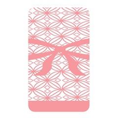 Pink Plaid Circle Memory Card Reader