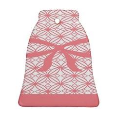 Pink Plaid Circle Ornament (Bell)