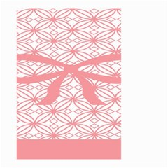 Pink Plaid Circle Small Garden Flag (Two Sides)
