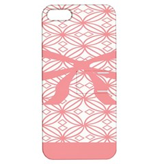 Pink Plaid Circle Apple iPhone 5 Hardshell Case with Stand