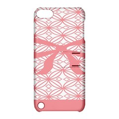 Pink Plaid Circle Apple iPod Touch 5 Hardshell Case with Stand