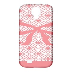 Pink Plaid Circle Samsung Galaxy S4 Classic Hardshell Case (PC+Silicone)