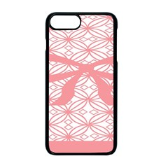 Pink Plaid Circle Apple Iphone 7 Plus Seamless Case (black)