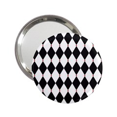 Plaid Triangle Line Wave Chevron Black White Red Beauty Argyle 2 25  Handbag Mirrors