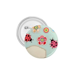 Buttons & Ladybugs Cute 1.75  Buttons