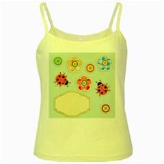 Buttons & Ladybugs Cute Yellow Spaghetti Tank
