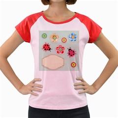 Buttons & Ladybugs Cute Women s Cap Sleeve T Shirt
