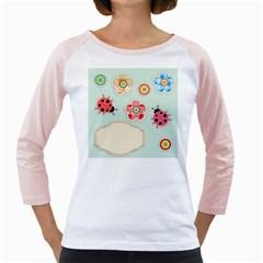 Buttons & Ladybugs Cute Girly Raglans