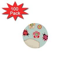 Buttons & Ladybugs Cute 1  Mini Buttons (100 Pack)