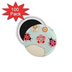 Buttons & Ladybugs Cute 1.75  Magnets (100 pack)