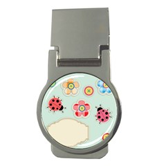 Buttons & Ladybugs Cute Money Clips (Round)