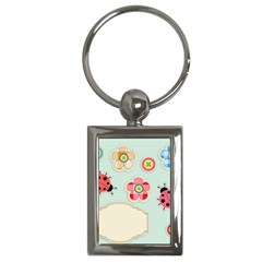 Buttons & Ladybugs Cute Key Chains (Rectangle)