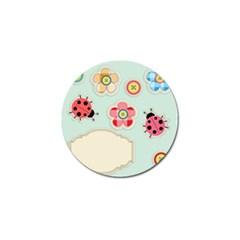Buttons & Ladybugs Cute Golf Ball Marker (4 pack)