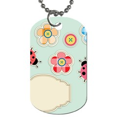 Buttons & Ladybugs Cute Dog Tag (Two Sides)