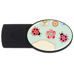 Buttons & Ladybugs Cute USB Flash Drive Oval (2 GB)