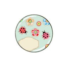 Buttons & Ladybugs Cute Hat Clip Ball Marker (4 Pack)