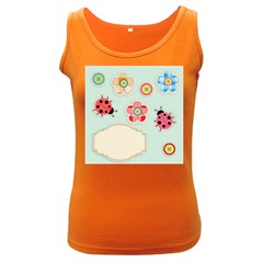 Buttons & Ladybugs Cute Women s Dark Tank Top