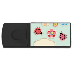 Buttons & Ladybugs Cute USB Flash Drive Rectangular (4 GB)