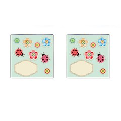 Buttons & Ladybugs Cute Cufflinks (Square)