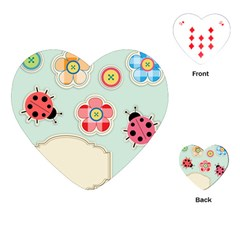 Buttons & Ladybugs Cute Playing Cards (Heart)