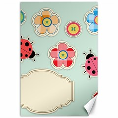 Buttons & Ladybugs Cute Canvas 12  X 18