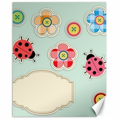 Buttons & Ladybugs Cute Canvas 16  x 20