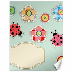 Buttons & Ladybugs Cute Canvas 36  x 48
