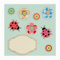 Buttons & Ladybugs Cute Medium Glasses Cloth