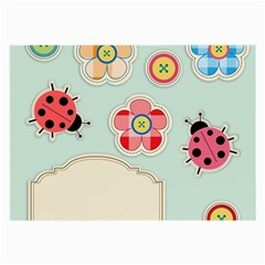 Buttons & Ladybugs Cute Large Glasses Cloth
