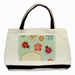 Buttons & Ladybugs Cute Basic Tote Bag (Two Sides)