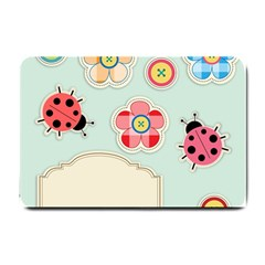 Buttons & Ladybugs Cute Small Doormat