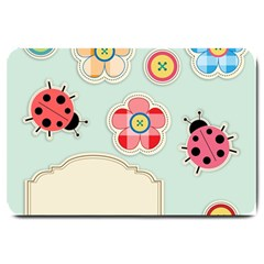 Buttons & Ladybugs Cute Large Doormat