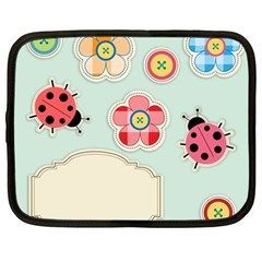 Buttons & Ladybugs Cute Netbook Case (large)