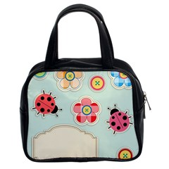 Buttons & Ladybugs Cute Classic Handbags (2 Sides)