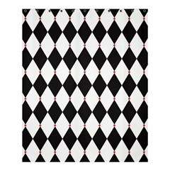 Plaid Triangle Line Wave Chevron Black White Red Beauty Argyle Shower Curtain 60  x 72  (Medium)