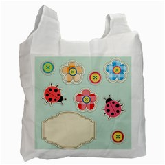 Buttons & Ladybugs Cute Recycle Bag (one Side)