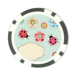 Buttons & Ladybugs Cute Poker Chip Card Guard (10 pack)