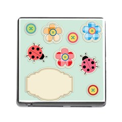 Buttons & Ladybugs Cute Memory Card Reader (Square)