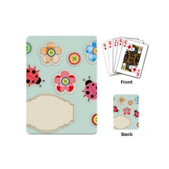 Buttons & Ladybugs Cute Playing Cards (mini)
