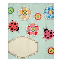 Buttons & Ladybugs Cute Shower Curtain 60  X 72  (medium)