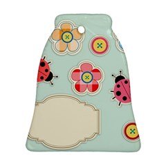 Buttons & Ladybugs Cute Bell Ornament (Two Sides)