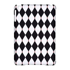 Plaid Triangle Line Wave Chevron Black White Red Beauty Argyle Apple iPad Mini Hardshell Case (Compatible with Smart Cover)