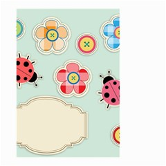 Buttons & Ladybugs Cute Small Garden Flag (Two Sides)