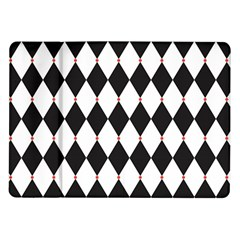 Plaid Triangle Line Wave Chevron Black White Red Beauty Argyle Samsung Galaxy Tab 10.1  P7500 Flip Case