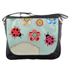 Buttons & Ladybugs Cute Messenger Bags