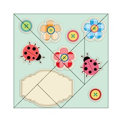 Buttons & Ladybugs Cute Acrylic Tangram Puzzle (6  x 6 )