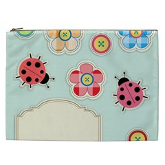 Buttons & Ladybugs Cute Cosmetic Bag (XXL)